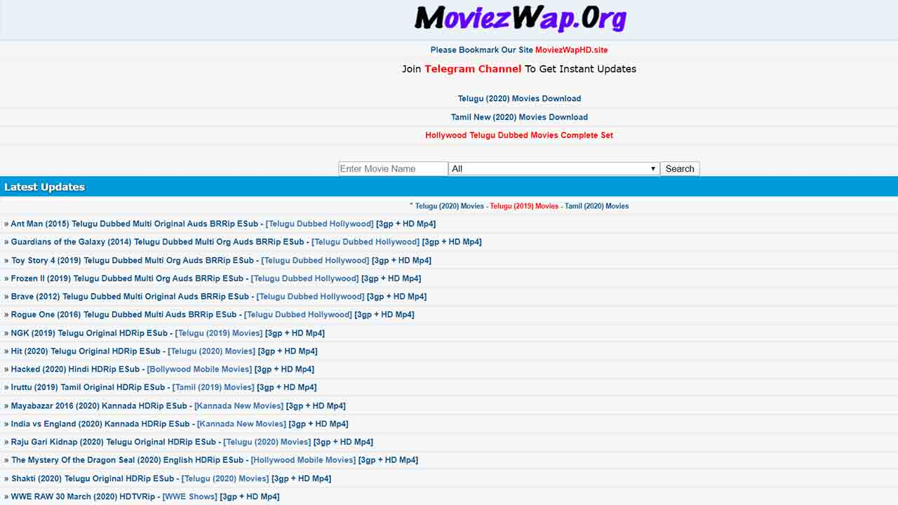 Moviezwap Telugu Movies 2020 Download Full HD Movies