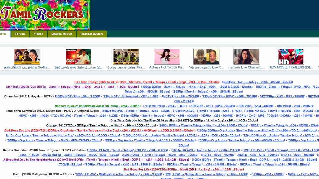 Tamilrockers Telugu Movies Free Download 2020